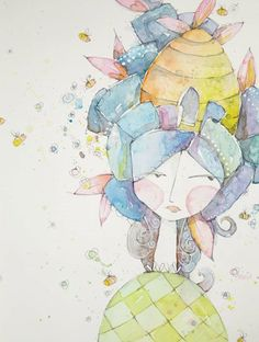 """You have no idea how many amazing ideas I have buzzing in my noggin right now,"" says Busy Girl by Danielle Donaldson. ""Let's play!"" 