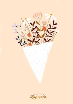 Plant Illustration, Pattern Illustration, Bunch Of Flowers, Summer Flowers, Watercolor Flowers, Watercolor Sketch, Sketch Art, Botanical Wall Art, Doodle Designs