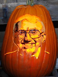 Ed McMahon, Johnny Carson's long-time sidekick on the Tonight Show was paid homage in pumpkin.