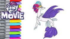 My Little Pony Coloring Book Pages Queen Novo MLP Movie 2017 Videos Kids Art | Toy Caboodle - YouTube