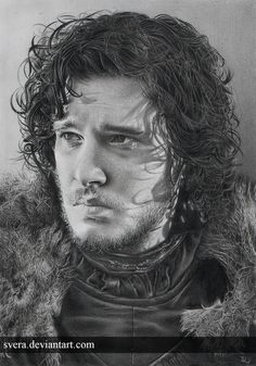 Game of Thrones Jon Snow - Pencil Drawings by Daniela Wolf