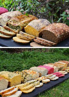 recetas-pan-casero-betarraga-zapallo-zanahoria-aji-albahaca-cherrytomate-38 Salty Foods, Vegan Bread, Bread And Pastries, Artisan Bread, Sin Gluten, Bread Baking, Brunch, Food And Drink, Salads