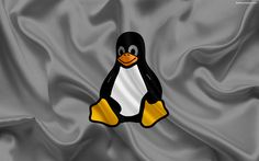 Download wallpapers Linux, Penguin, logo, operating system, emblem