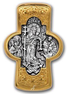 Купить нательный православный крест Господь Вседержитель в магазине Ева