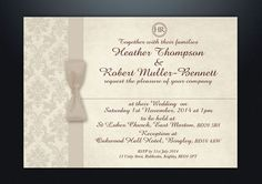 PERSONALISED DAMASK WEDDING DAY & EVENING INVITATIONS WITH ENVELOPES & P&P in Home, Furniture & DIY, Wedding Supplies, Cards & Invitations | eBay!