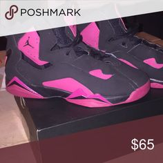 half off 4437c d2638 Jordan 7 true flight GG Used(worn twice) black and pink true flight Jordan  Shoes Sneakers