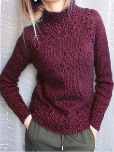 Style Hot F/W Solid Knitted Long Sleeves Sweaters - shopingnova History of Knitting String spinning, weaving and stitching careers suc. Knitting Terms, Knitting Patterns, Knitting Wool, Vintage Sweaters, Vintage Shirts, Vintage Tops, Green Turtleneck, Diy Mode, Damen Sweatshirts