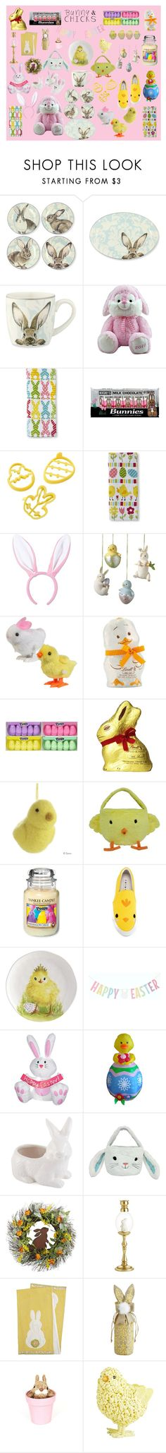 """""""Bunnies & Chicks"""" by deannastraub ❤ liked on Polyvore featuring interior, interiors, interior design, home, home decor, interior decorating, Williams-Sonoma, Hershey's, Lindt and John Lewis"""