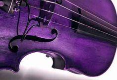 Beautiful purple violin