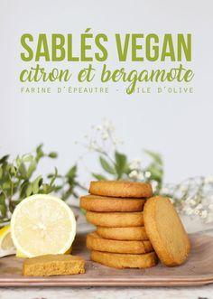Sablés vegan citron et huile essentielle de bergamote #vegan #biscuits #hiver