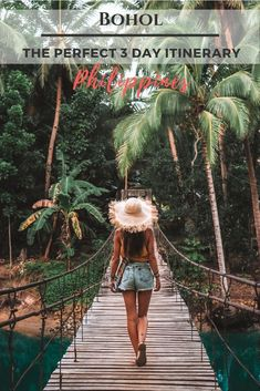 Here is the perfect 3 day bohol itinerary for you! The Chocolate Hills, the Philippine Tarsier Sanctuary, Panglao, Loboc and more! Voyage Philippines, Philippines Travel Guide, Bohol Philippines, Manila Philippines, Top Travel Destinations, Best Places To Travel, Travel Things, Spain Travel, Asia Travel