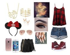 """""""Disneyworld"""" by bokwitmebrunz ❤ liked on Polyvore featuring So in Fashion, Disney Couture, Vans, BauXo, Aamaya by Priyanka, Disney, Ray-Ban and Whistles"""