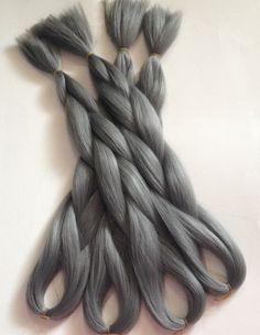 dark gray box hair braids