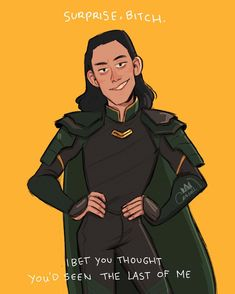 """This is how I imagine every time Loki """"comes back from the death"""""""