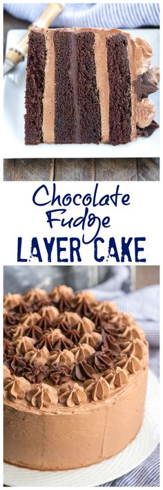 Chocolate Fudge Layer Cake | 6 layers of pure chocolate deliciousness! @lizzydo