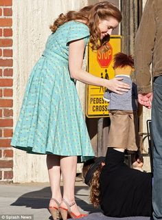 Amy Adams starts work on The Muppets movie-How cute is this! I loved her in The Muppets!