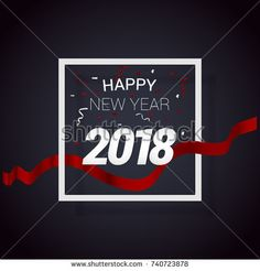 New Year Greeting card vector illustration using paper cut style
