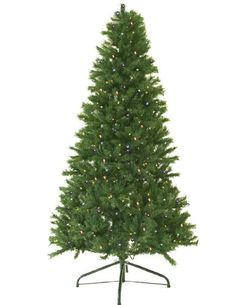 10 PreLit Canadian Pine Artificial Christmas Tree  MultiColor Lights -- Want additional info? Click on the image.