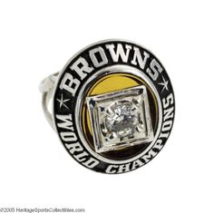 1964 Cleveland Browns N.F.L. Championship Ring.