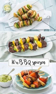 x BBQ spiesen 10 x BBQ spiesen - Leuke x BBQ spiesen - Leuke recepten Barbecue Recipes, Grilling Recipes, Cobb Bbq, Fondue, Tapas, Bbq Skewers, Weber Bbq, Homemade Bbq, Barbecue Chicken