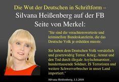 """Die Wut der Deutschen in Schriftform – Silvana Heißenberg auf der FB Seite von Merkel: """"Sie sind die verachtenswerteste und kriminellste Bundeskanzlerin, die das Deutsche Volk je erdulden musste!"""" …"""