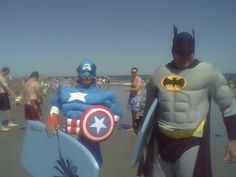 Batman and Captain America Combat Medical Waste in Cape May County