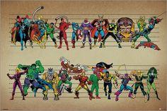 Marvel Comics - Line Up - Comicposter