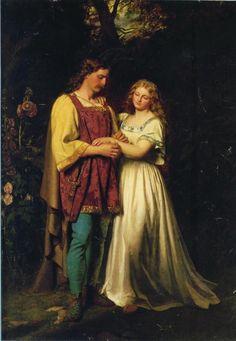 Postumus and Imogen - John Faed 1865
