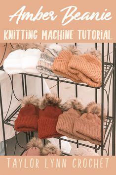 Amber Beanie Knitting Machine Tutorial – – Awesome Knitting Ideas and Newest Knitting Models Knitting Machines For Sale, Knitting Machine Patterns, Circular Knitting Machine, Brother Knitting Machine, Double Knitting, Crochet Pattern, Free Pattern, Free Crochet, Addi Express