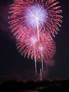 Summer fireworks in Toyota, Aichi, Japan 豊田おいでん祭り