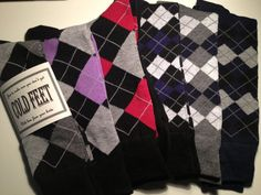 Just In Case You Get Cold Feet Argyle Socks & by CUTEnCRAFTYshop, $6.00