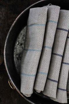 Kökshandduk Marulk Isblå 2-pack