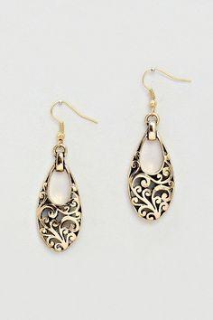 Antiqued Mira Earrings