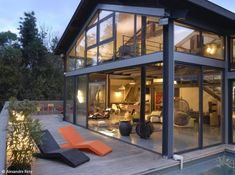 52 Trendy Ideas For Apartment Building Exterior Glasses Houses In France, Casas Containers, Steel House, House Extensions, Building Exterior, Rental Apartments, Home Deco, Modern Architecture, House Plans