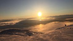 A sunset from the top of Åre Sweden [1600x900] [OC]
