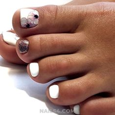 : inspirational whitenail charming glitter acrylic designs floral white style cute toes copy nail toe Cute Toe Nail Designs to Copy Inspirational & Charming Acrylic Nail Cute Toe Nail Designs to Copy Inspirational & Charming Acrylic Nail S Toe Nails White, Acrylic Toe Nails, Pretty Toe Nails, Cute Toe Nails, Cute Toes, Pretty Toes, Toe Nail Art, Glitter Toe Nails, Pedicure Designs