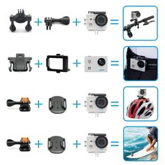 Navitech 50-in-1 Action Camera Accessories Combo KIt with EVA Case Compatible with The ELE CAM Explorer WiFi Sport Outdoor-Action Video Camera