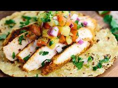 Blackened Chicken Tacos with Pineapple Salsa Recipe | Jessica Gavin
