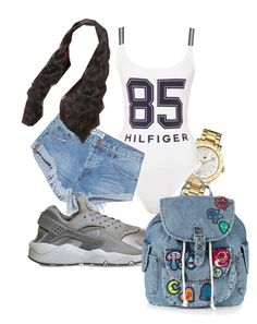 """Untitled #88"" by eastcoastley on Polyvore featuring Tommy Hilfiger, One Teaspoon, NIKE and Topshop"