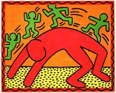 """Keith Haring (1958-1990) icône des années 1980 il fut l'un des artistes les plus célébrés de son époque et, aujourd'hui encore, tout le monde reconnaît son style incomparable. Les """"happening"""" et symboles reconnaissables ont fait la célébrité de cet artiste original et engagé, enfant du pop art.  Exposition au Musée d'Art Moderne à Paris du 19 avril au 18 août 2013."""