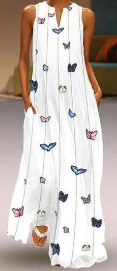 Shop now>>White Maxi Dresses Round Neck Summer Shift Holiday Printed Dresses Vestidos Plus Size, Plus Size Maxi Dresses, White Maxi Dresses, Casual Dresses, Fashion Dresses, Summer Dresses, Printed Dresses, Dresses Dresses, Latest Fashion Design