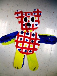 Art Room Current Projects Primary Colors & Pattern Bears