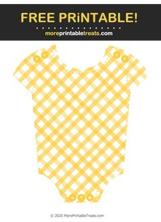 Mustard Yellow Gingham Baby Onesie Cut Out