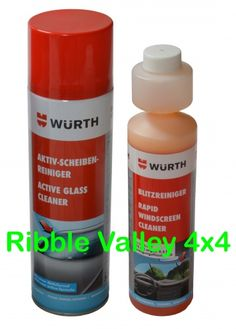 WURTH CLEAN GLASS KIT - WURTH ACTIVE GLASS CLEANER + RAPID WINDSCREEN CLEANER