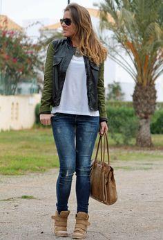 1- Vivilli.com Chaquetas /2- Zara Otras joyas / Bisutería /3- Zara Jeans /4- SUITEBLANCO Deportivas /5- Persol Gafas / Gafas de sol
