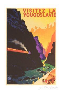 Yugoslavia Travel Poster Kunst bei AllPosters.de
