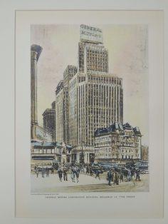 General Motors Corporation Building, Broadway & 57th, New York, NY, 1929, Original Plan.