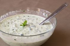 "Greek Dip Recipe: Tzatziki Sauce I use this on so many dishes, but let the cucumbers drain for a while through paper toweling or just a fine sieve. That makes the mixture less ""soupy"" . And for a cheater version just add coarsely ground garlic salt, dried dill and oregano to Greek yogurt - so easy peasy and delicious!"