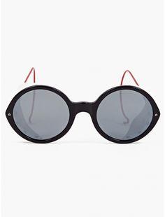 3e900b1aa19 Thom Browne Men s Black TB-013C-T Sunglasses