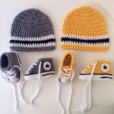 Crochet Converse Sneakers and Hat pattern